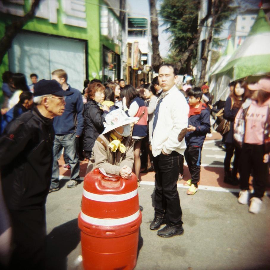 Ajuma at Jinhae Cherry Blossom Festival