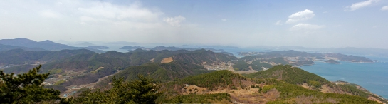 View of Geojedo and East China Sea from Daegeum Peak