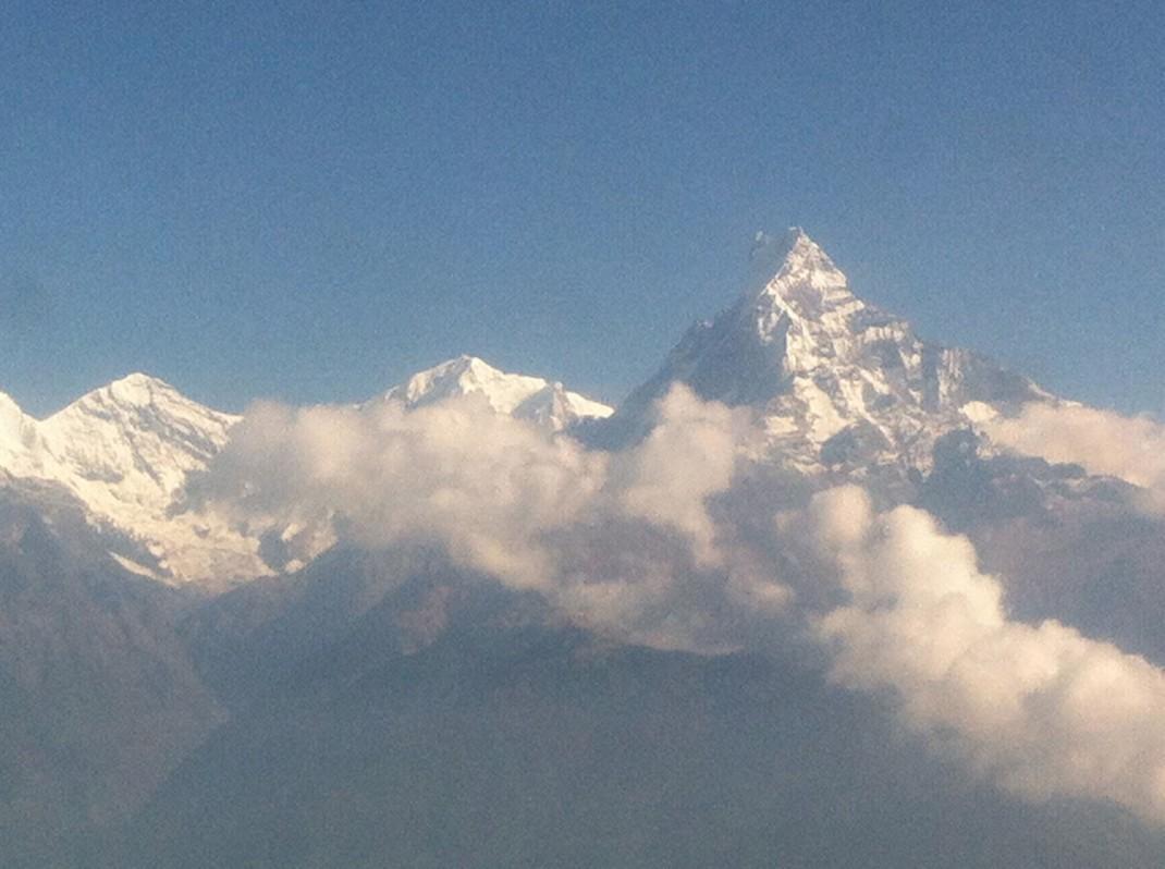 Flight from Jomson to Pokhara