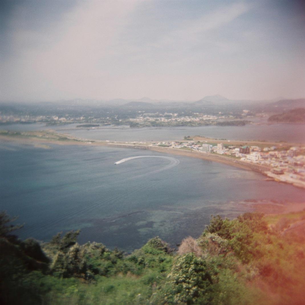 Sunrise Peak, Jeju Island, Holga