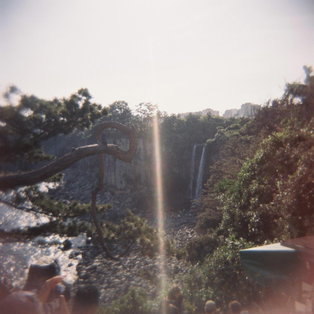 Jeonbang Waterfall, Jeju Island, Holga
